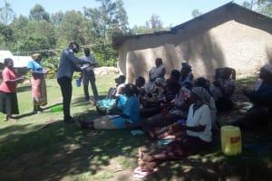The Water Project: Bukhaywa Community, Asumani Spring -  Handwashing Training