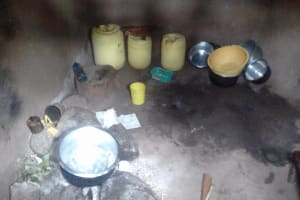 The Water Project: Imusutsu Community, Ikosangwa Spring -  Water Storage In Kitchen