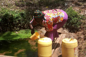 The Water Project: Shivembe Community, Murumbi Spring -  Fetching Water
