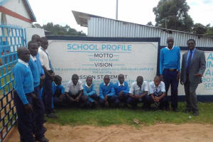 The Water Project: Kamimei Secondary School -  Students Posing At School Gate