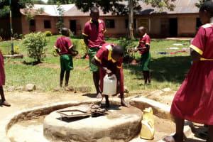 The Water Project: Nanganda Primary School -  Open Well