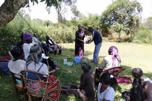 The Water Project: Rosterman Community, Kidiga Spring -  Handwashing Training