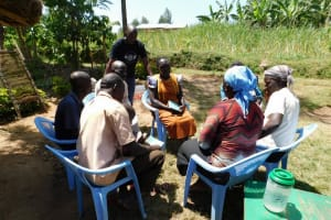 The Water Project: Mukangu Community, Lihungu Spring -  Group Discussions