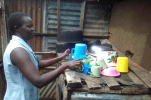 The Water Project: Imusutsu Community, Ikosangwa Spring -  Dishes Drying Outside Of Kitchen