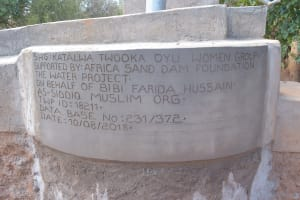 The Water Project: Ilandi Community A -  Updated Well Plaque