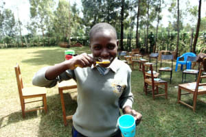 The Water Project: Ebubere Mixed Secondary School -  Toothpaste Demonstration