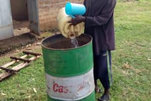 The Water Project: Shikangania Community, Abungana Spring -  Water Storage