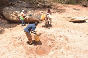 The Water Project: Kathonzweni Community -  Filling Container With Water
