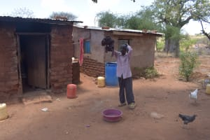The Water Project: Kathonzweni Community -  Hanging Clothes On Line