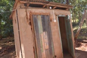 The Water Project: Ngitini Community D -  Latrine