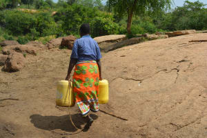 The Water Project: Wamwathi Community -  Carrying Water