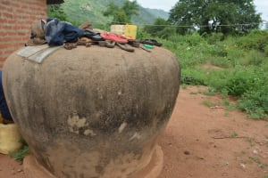 The Water Project: Wamwathi Community -  Cement Water Storage Container