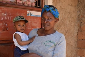 The Water Project: Kyamwao Community -  Christine Musyoka And Her Son
