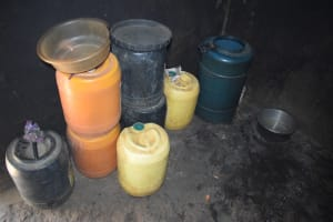 The Water Project: Kithumba Community D -  Watet Storage Containers