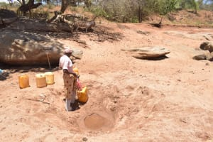 The Water Project: Kathonzweni Community A -  At The Scoop Hole