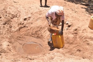 The Water Project: Kathonzweni Community A -  Fetching Water
