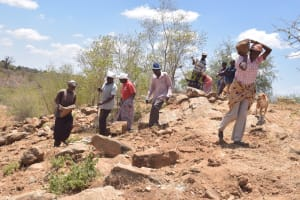 The Water Project: Kathonzweni Community A -  Gathering Materials For Construction