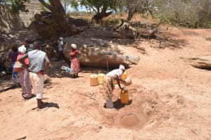 The Water Project: Kathonzweni Community A -  People At The Scoop Hole