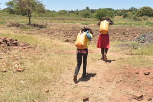 The Water Project: Ngitini Community E -  Carrying Water
