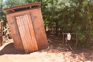 The Water Project: Ngitini Community E -  Latrine And Handwashing Station
