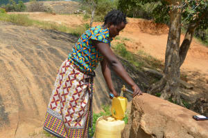 The Water Project: Wamwathi Community A -  Fetching Water