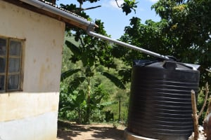 The Water Project: Kyamwao Community A -  Rainwater Harvesting Tank