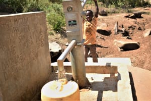 The Water Project: Mitini Community A -  Filling Container