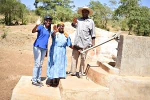 The Water Project: Mitini Community A -  Lilian Kendi Hannah Kasiola And John Kyalo Wambua
