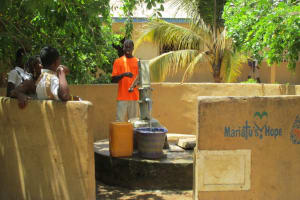 The Water Project: Lungi, Rotifunk, King Fuad Hafis Islamic School -  Water Source At St Joseph Secondary School
