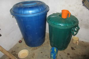 The Water Project: Lungi, Rotifunk, King Fuad Hafis Islamic School -  Water Storage Containers