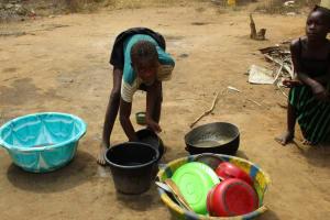 The Water Project: Lokomasama, Menika, DEC Menika Primary School -  Washing Dishes