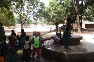 The Water Project: Lokomasama, Menika, DEC Menika Primary School -  Main Water Source