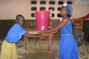 The Water Project: Mahera, SLMB Primary School -  Hand Washing Station