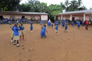 The Water Project: Mahera, SLMB Primary School -  Students Playing
