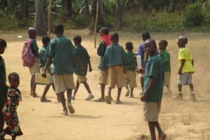 The Water Project: Lokomasama, Bompa, DEC Bompa Primary School -  Students Outside