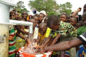 The Water Project: Lungi, Tonkoya Village -  Children Celebrating