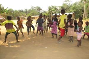 The Water Project: Lungi, Tonkoya Village -  Children Dancing