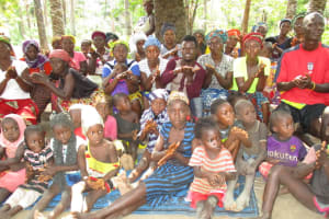 The Water Project: Lungi, Tonkoya Village -  Community Members At The Training