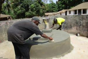 The Water Project: Lungi, Tonkoya Village -  Pad Construction