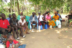 The Water Project: Lungi, Tonkoya Village -  People Listen During Training