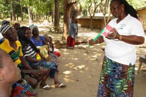 The Water Project: Lungi, Tonkoya Village -  Toothbrushing Demonstration