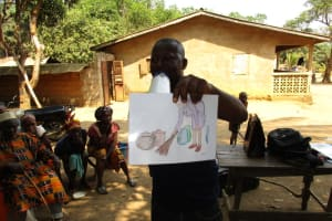 The Water Project: Lungi, Tonkoya Village -  Visual Tool Used During Hygiene Training