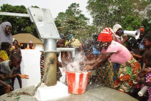 The Water Project: Lungi, Tonkoya Village -  Water