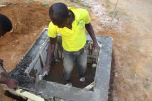 The Water Project: Lungi, Tonkoya Village -  Well Pad Construction
