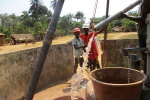 The Water Project: Lungi, Tonkoya Village -  Yield Test
