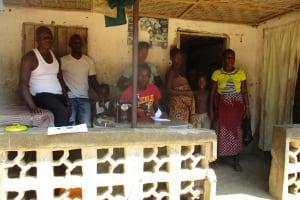 The Water Project: Lungi, Yaliba Village -  Cherinor Bangura Far Left