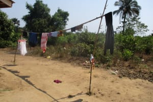 The Water Project: Lungi, Yaliba Village -  Clothes Drying