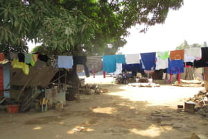 The Water Project: Lungi, Tintafor, St. Lucia Well -  Clothes Drying