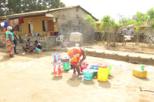 The Water Project: Lungi, Tintafor, St. Lucia Well -  Washing Clothes