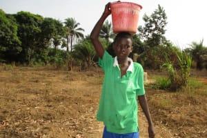 The Water Project: Lungi, Komkanda Memorial Secondary School -  Carrying Water